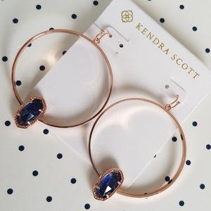 Kendra Scott Rose Gold & Navy Elora Earrings